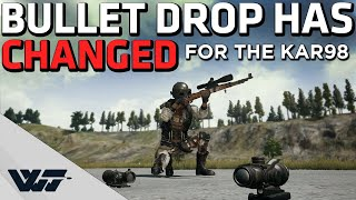 HOW TO AIM WITH KAR98K - Bullet drop has CHANGED! - PUBG