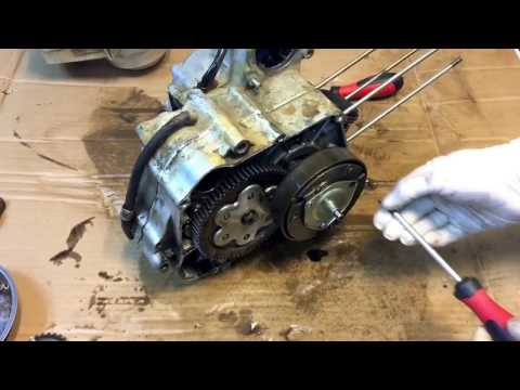 Remove clutch cover and clutch to atv 107 110 125 cc