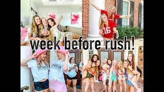 SORORITY RUSH WORK WEEK VLOG | University of Alabama Pi Beta Phi