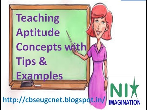 teaching aptitude concepts with tips examples youtube
