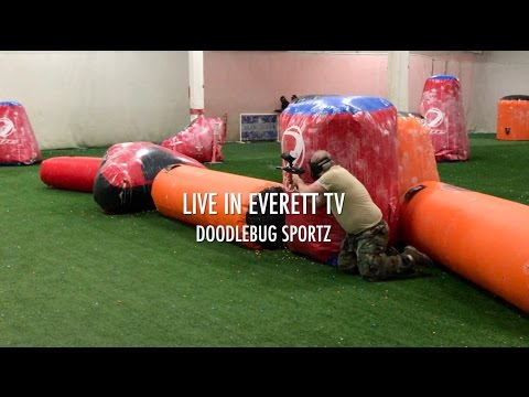 Live In Everett TV 📺: Doodlebug Sportz Indoor Paintball Arena