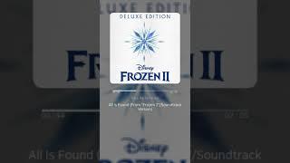 "All Is Found (From ""Frozen 2""/Soundtrack Version) - Evan Rachel Wood | 가사 (Lyrics)"