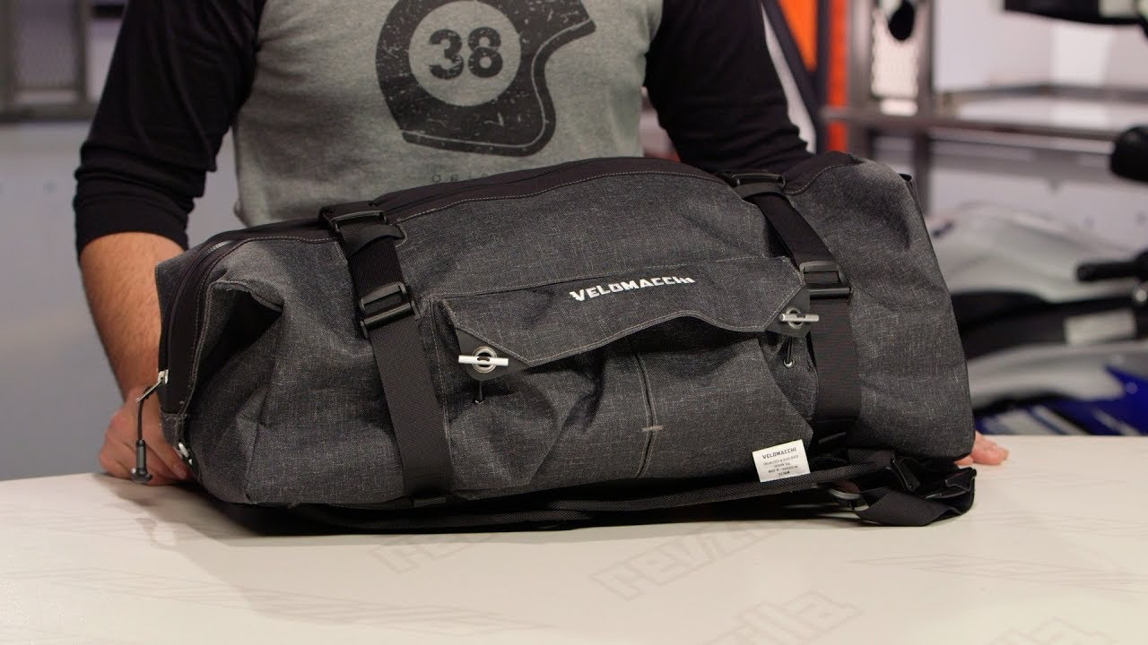 Velomacchi Hybrid Duffel Pack 50l Review At Revzilla Com Youtube