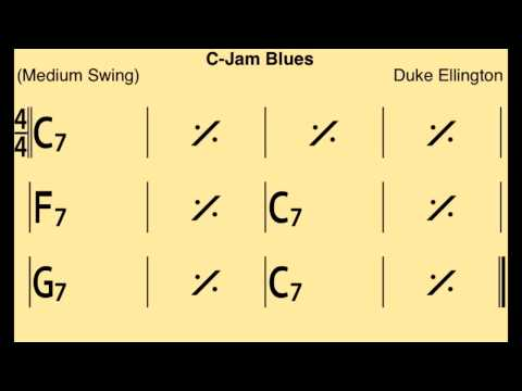C-Jam Blues - Backing Track / Play-along