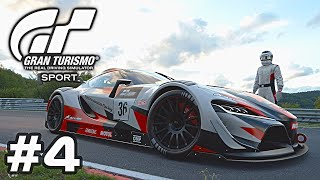 GRAN TURISMO SPORT - Toyota Supra FT-1 - G29 Gameplay Walkthrough - Part 4