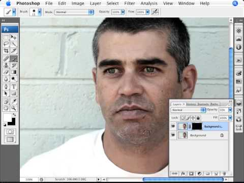 how to add stubble in photoshop
