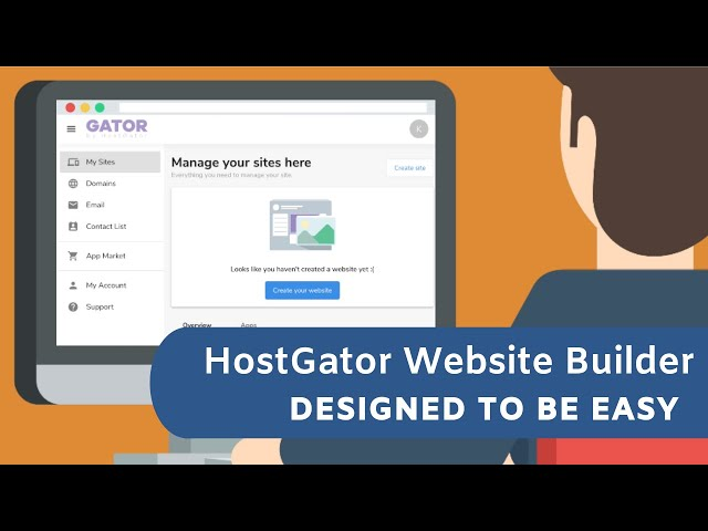 HostGator Website Builder - create your website in a snap