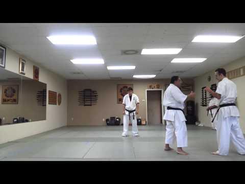 USA KYOKUSHIN KARATE ACADEMY in San Diego, California. Tyson's black belt fight, 10 man kumite.