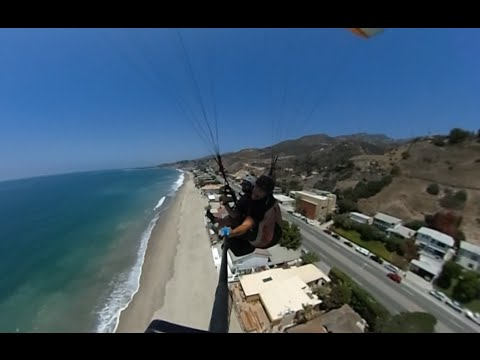 Flying in Malibu