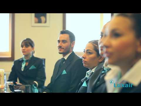 Luxair Luxembourg Airlines - Cabin Crew training
