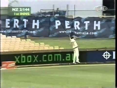 Lou Vincent 104 Stephen Fleming 105 vs Australia 3rd test 2001/02