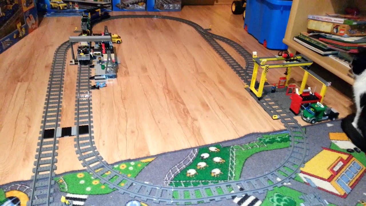 Lego City Pociąg Towarowy Youtube