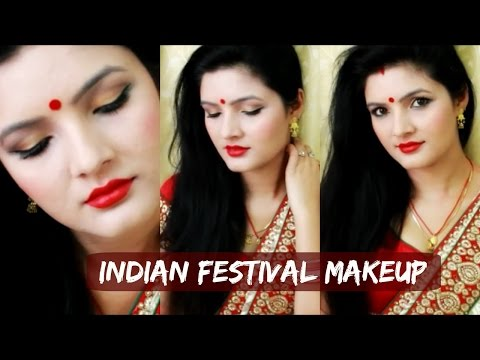 makeup by ethnico-Durga Puja | Navratri | Diwali Makeup Tutorial for Saree- GRWM
