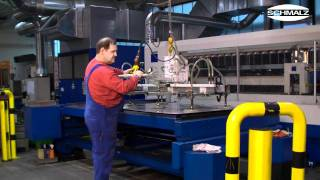 Vacuum Lifting Device - Loading Machines With Sheets Of Metal | Schmalz