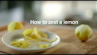 How To Zest A Lemon   Good Housekeeping UK