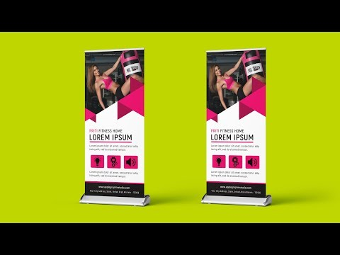 Fitness Roll Up Banner Design - Photoshop CC Tutorial