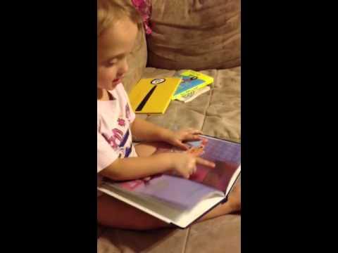 Juliette reads bedtime book