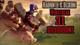 Headhunter vs Bilskirne | win streak 8 | war recap | best of | TH 12 | COC clash of clans 2018