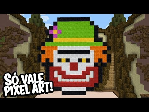 Minecraft: DESAFIO! SÓ POSSO FAZER PIXEL ART! (BUILD BATTLE)
