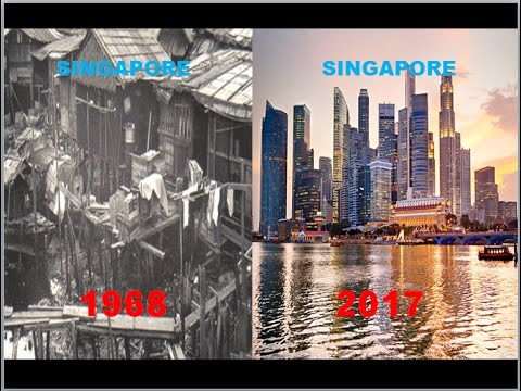 Singapore's Transformation in 50 years from small struggling island to a thriving nation !!!
