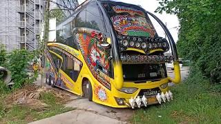 รถบัสแต่งสวยๆ ถอยเข้าที่แคบๆ ISUZU 6WF1 420HP, BUS THAILAND
