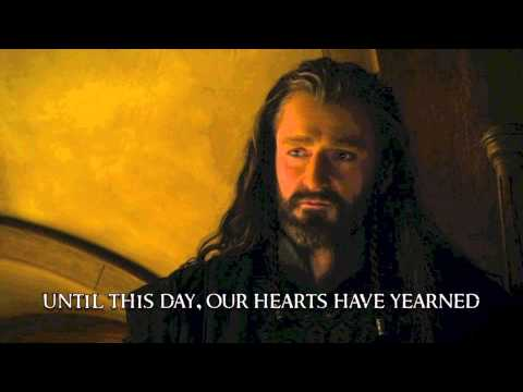 Song of the Lonely Mountain (Lyrics)- with movie footage