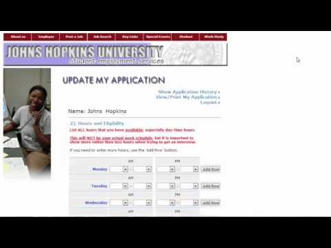 Creating a Campus Application with JHU Student Employment Services