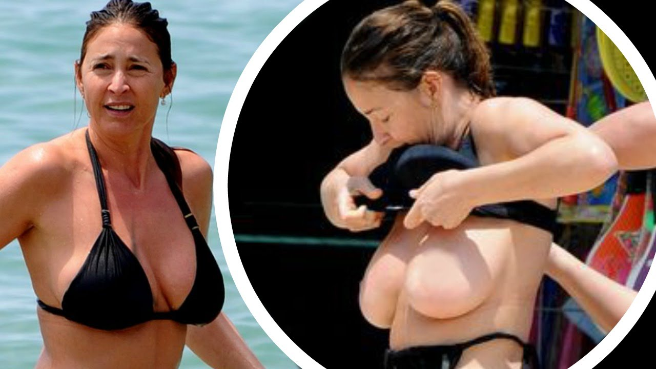 topless lisa snowdon suffers nip-slip flashes b00bies !! - youtube