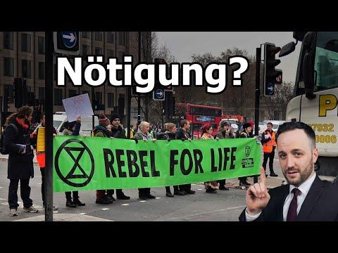 Nötigung durch Extinction Rebellion ?! Ziviler Ungehorsam | Herr Anwalt