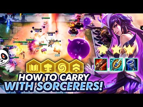 HOW TO WIN GAMES WITH SORCERERS! | TFT | Teamfight Tactics
