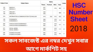 hsc-result-2018-with-numbe-sheet-per-subject-number-hsc-result-full-number-mark-sheet
