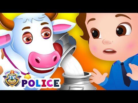 ChuChu TV Police Save The Milk From Bad Guys   ChuChu TV Kids Videos
