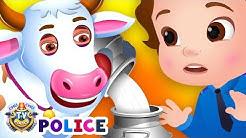 ChuChu TV Police Save the milk from Bad Guys | ChuChu TV Kids Videos