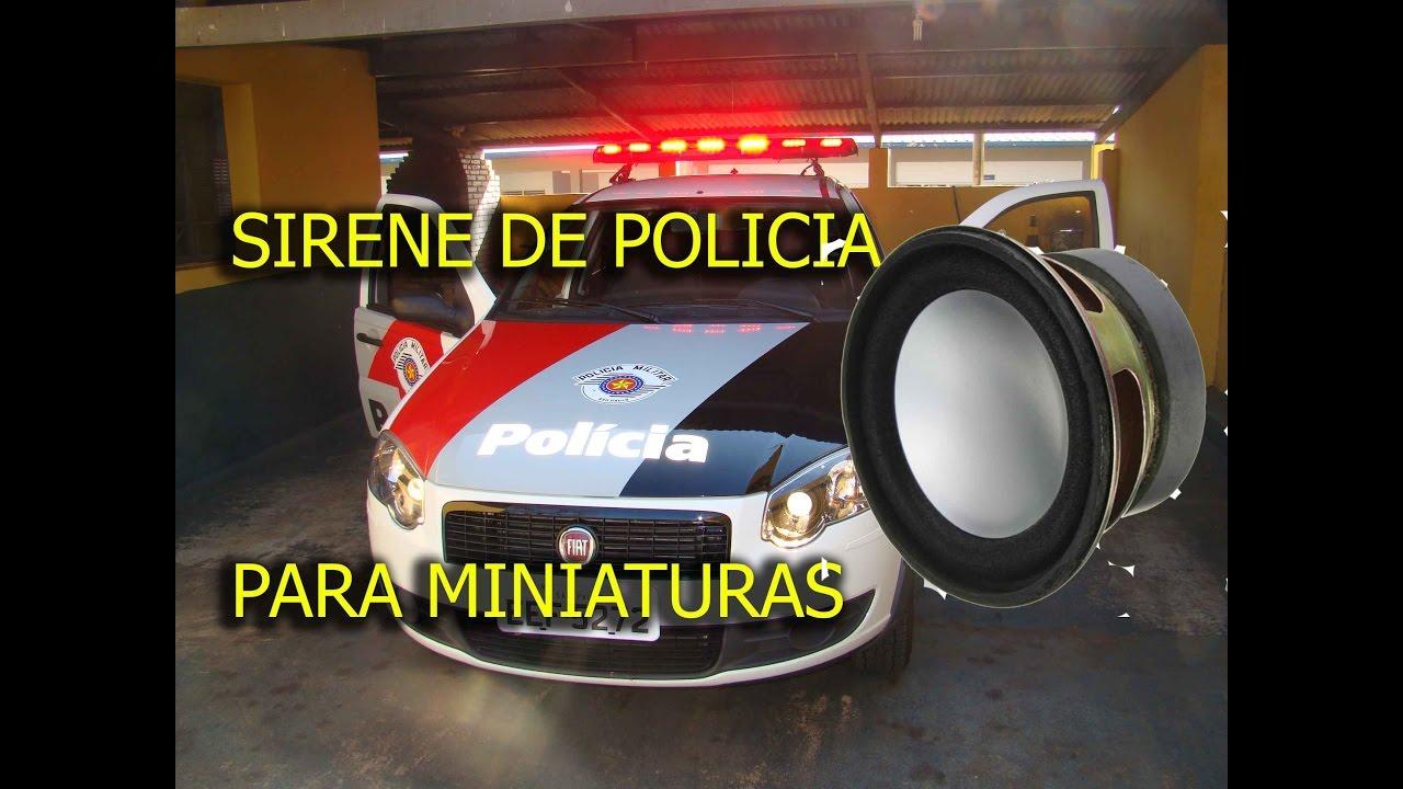 o som da sirene da policia