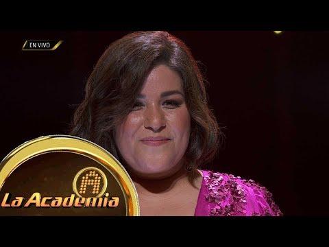 ¡María Fernanda contagió a todos con su ritmo, pero debe trabajar en su afinación! | La Academia