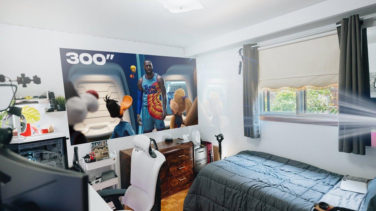 Under $250 Budget Projector Bedroom Setup 2021 (Best Cheap 1080p Projector)
