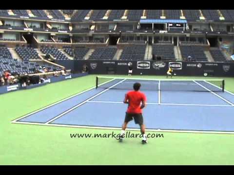 Roger Federer Practice U.S. Open 2011