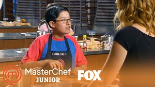 Gonzalo Cooks Up An Asian Style Fried Chicken Thigh | Season 5 Ep. 8 | MASTERCHEF JUNIOR