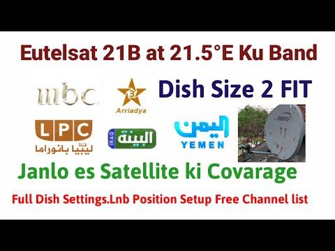 Eutelsat 21B at 21 5°E Ku Band Full Dish Settings Available Free TV  Channels 2018