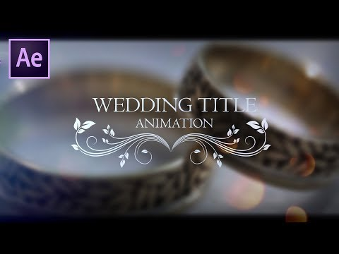 Wedding Title Animation in After Effect | After Effects Tutorial | Effect For You