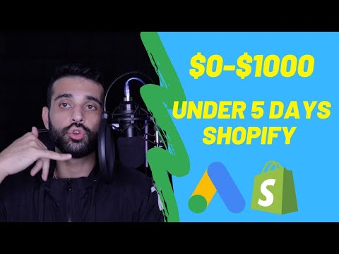 How To Make $0-$1000 In Under 5 Days Shopify Dropshipping With Google Ads (REAL Proof) thumbnail