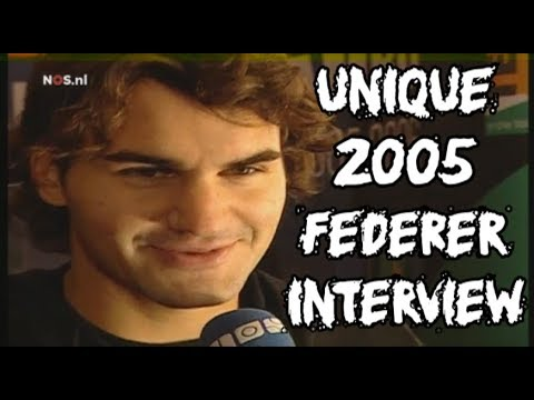NEVER Before Seen Federer Interview and Footage at Rotterdam 2005