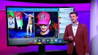 المغني الجزائري سولكينغ يغضب المغاربة بعلم البوليساريو