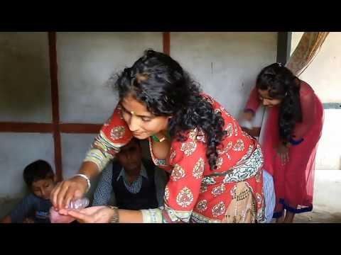 desi girl showing boobs in diwali cleavage thumbnail