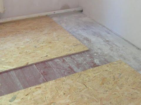 как выровнять деревянный пол в старом доме