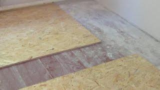 видео Как правильно положить линолеум на деревянный пол: методы и способы