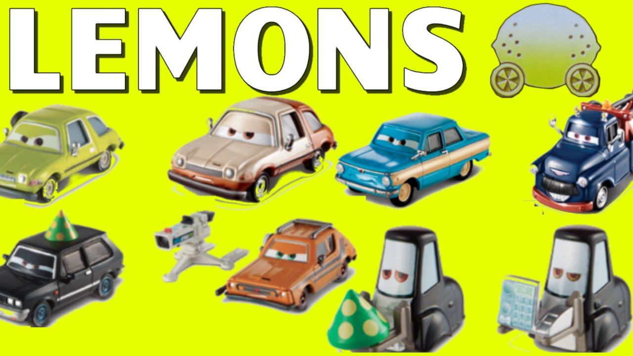 Disney Pixar Cars 2 Lemons Series Ivan Hugo Gremlin Pitties Chase Pacer Toys Youtube