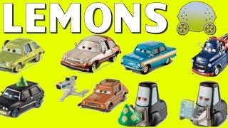DISNEY PIXAR CARS 2 LEMONS SERIES IVAN HUGO GREMLIN PITTIES CHASE PACER TOYS
