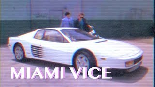 MIAMI VICE - Ferrari Testarossa [dangerous game] VHS Version