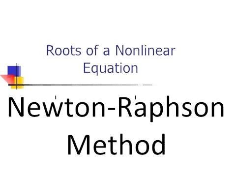 How to Newton Raphson Method (Numerical analysis)